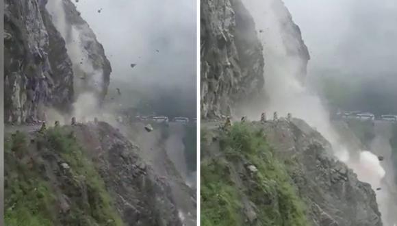 Muchos quedaron asombrados por la magnitud del desastre. (Foto: Caters Clips | YouTube)