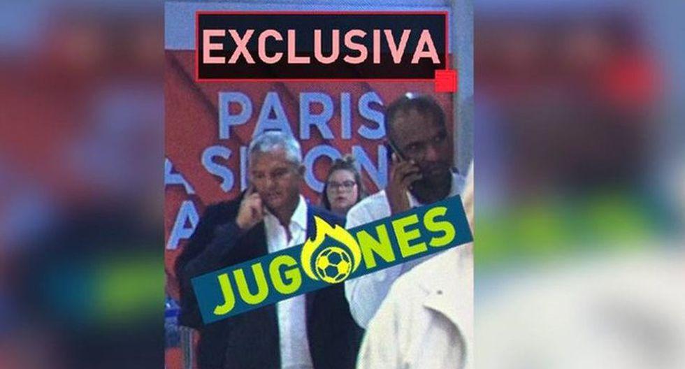 Los directivos del Barcelona que fueron captados en Francia para negociar por Neymar.