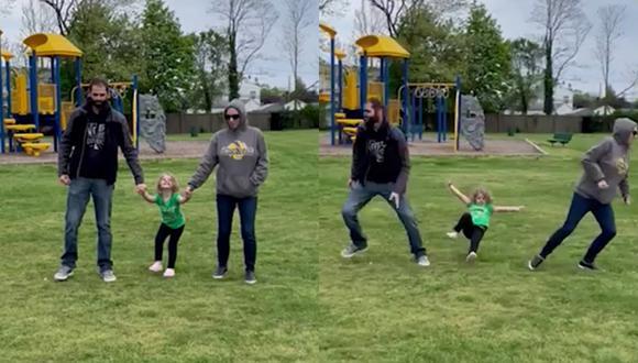 Un video viral muestra el épico fallo de unos padres al participar en un reto viral de TikTok junto a su pequeña hija. | Crédito: Caters Clips / YouTube