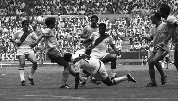 El choque de la Selección Peruana ante Brasil en México 70' podrás verlo en Latina TV. (Foto: Archivo GEC)  MUNDIAL DEL 70. PERU VS BRASIL