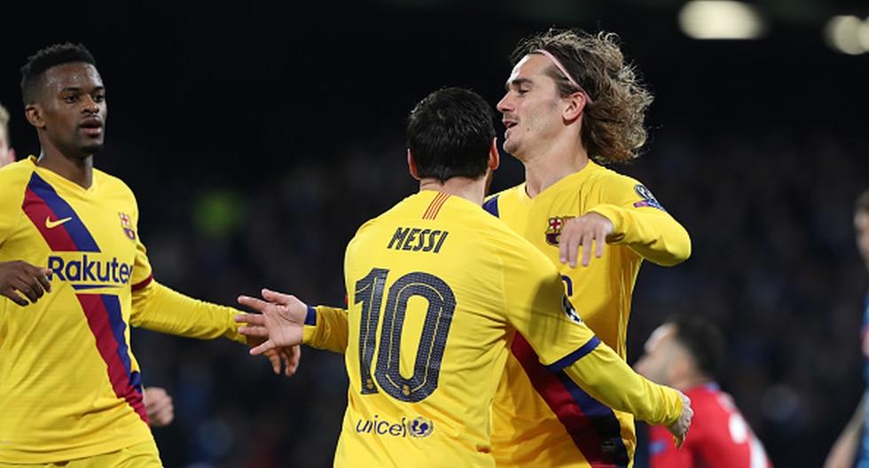 Barcelona vs. Napoli en el San Paolo por la UEFA Champions League. (Foto: Getty)