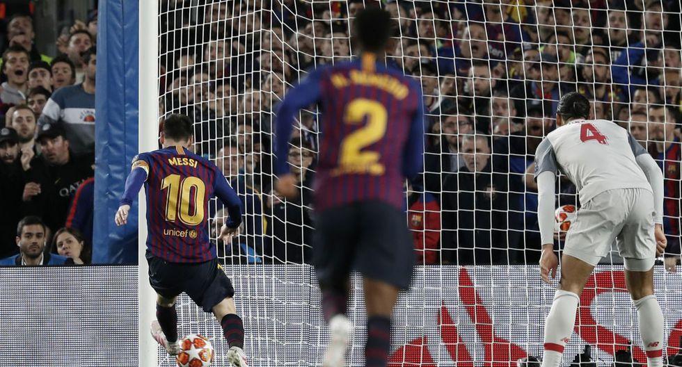 Barcelona vs. Liverpool en Camp por semifinales de Champions League. (Foto: AFP)