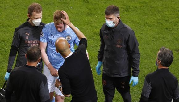 Antonio Rudiger pidió perdón a Kevin De Bruyne por la lesión sufrida en la final de la Champions League. (Foto: EFE)