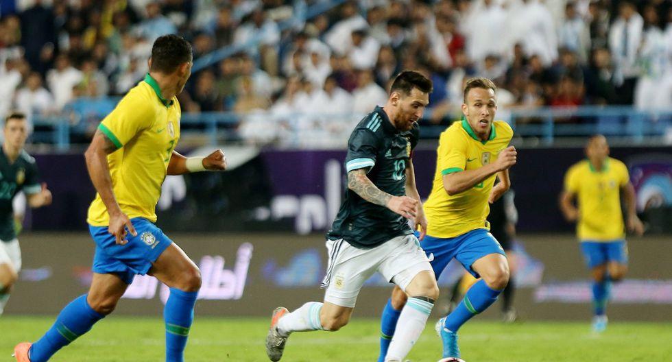 Argentina venció 1-0 a Brasil por el 'Superclásico de América' en el King Saud University. (Getty Images)