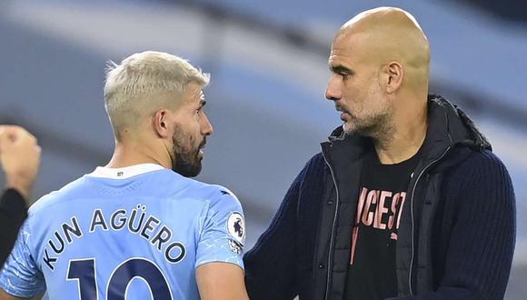 Pep Guardiola halagó a Sergio Agüero tras su golazo ante el Crystal Palace. (Foto: EFE)
