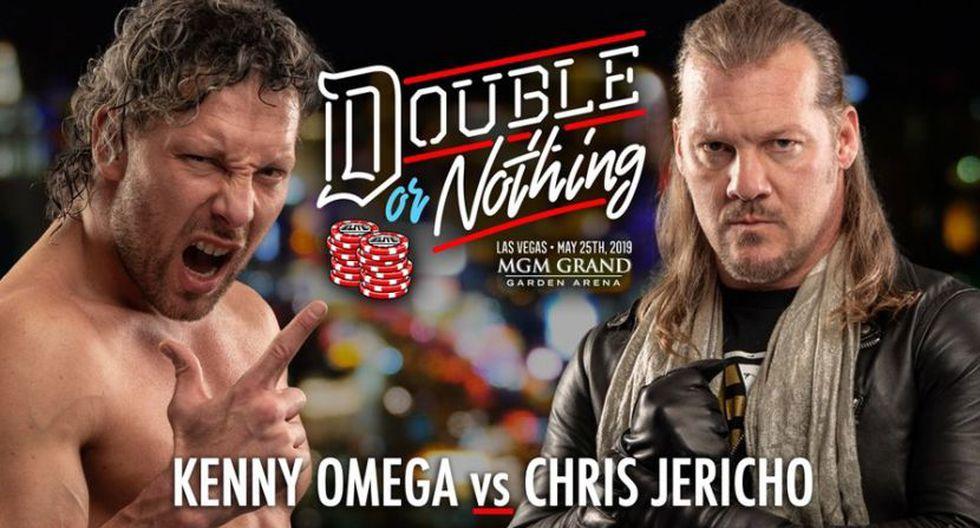 Kenny Omega enfrentará a Chris Jericho en el primer pay-per-view. (Twitter: @AEWrestling)