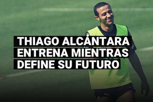 Thiago Alcántara estuvo presente en el primer entrenamiento de pretemporada de Bayern