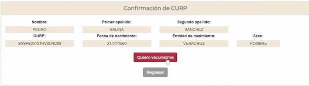 Pasos para registrarte y recibir la vacuna contra el COVID-19 en México (Captura: mivacuna.salud.gob.mx)