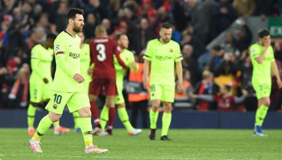 Barcelona perdió 4-0 a manos de Liverpool y le dijo adiós a la Champions League. (Foto: EFE)
