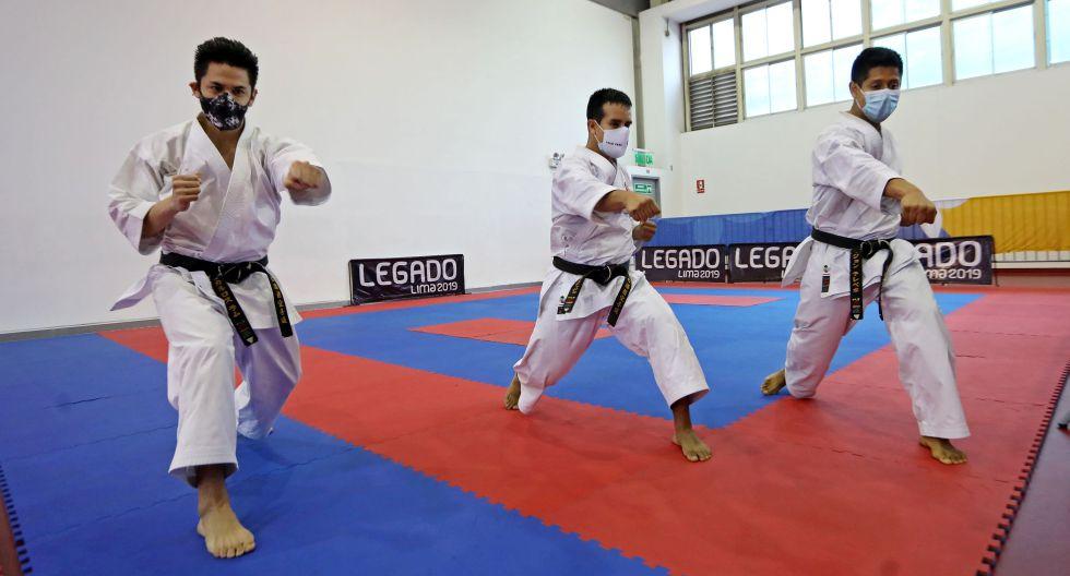 El equipo masculino de kata, que ganó oro en los Panamericanos. (Foto: Lima 2019)