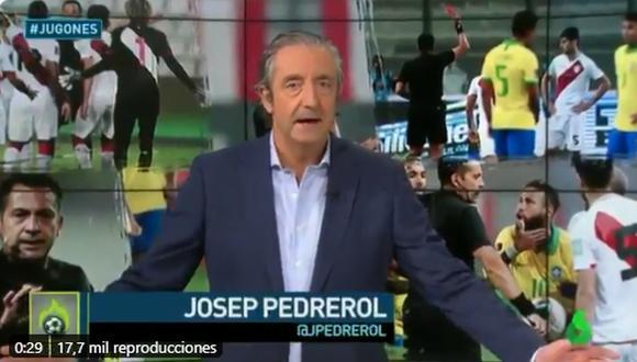 Así informó 'El Chiringuito' sobre el árbitro Julio Bascuñán tras el Perú vs. Brasil. (La Sexta)