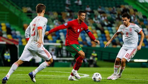 El encuentro entre españoles y portugueses no tuvo goles. (Foto: Twitter de @WbeimarMunoz)
