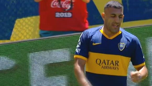El Gol de Wanchope Ábila para el 2-0 de Boca ante Arsenal. (TNT Sports)