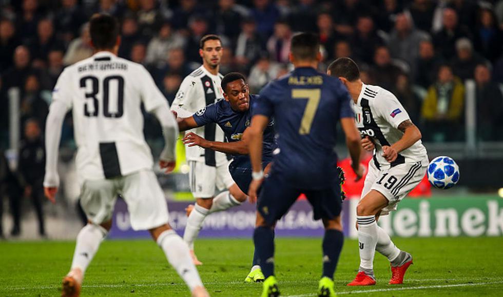 Juventus vs. Manchester United en Turín por la Champions League. (Foto: Getty Images)