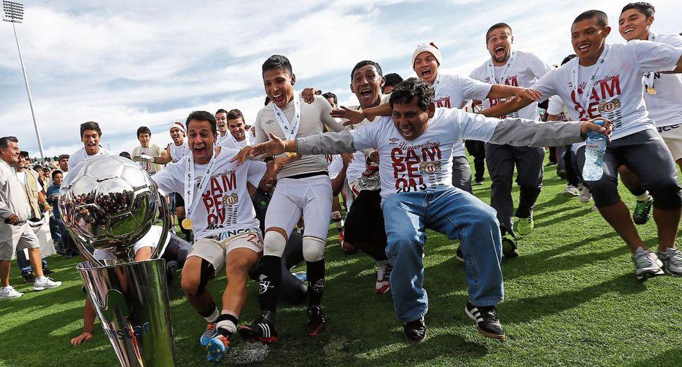 Universitario de Deportes, de la mano de Ruidíaz y Comizzo, consiguió levantar el título nacional de 2013 en la ciudad de Huancayo. (Foto: El Comercio).