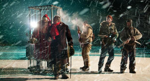 A boy named Pietari (Onni Tommila) and his friend Juuso (Ilmari Järvenpää) believe that a secret mountain drilling project near their home in northern Finland has discovered the grave of Santa Claus (Photo: Rotten Tomatoes)