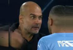 Durísimo: el enojo de Guardiola con Mahrez y Grealish en el City vs. Leipzig [VIDEO]