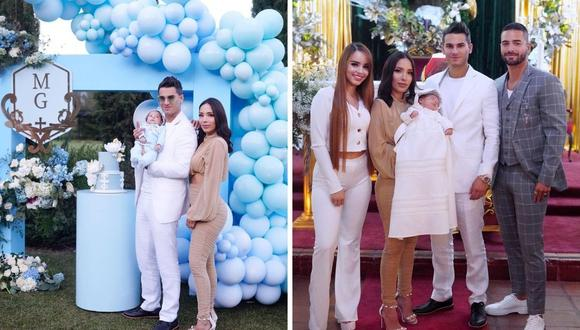 Maluma, Pipe Bueno y Luisa Fernanda W celebraron el bautizo de Máximo, quien tiene solo unos meses de nacido. (Foto: Instagram / @pipebueno)