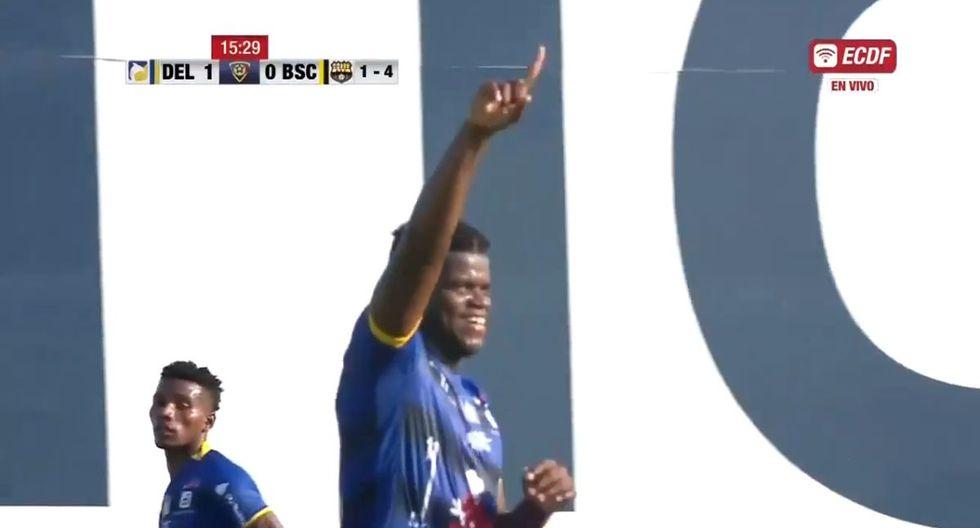 Caicedo anotó el 1-0 del Delfín ante Barcelona SC por el pase a la final de Copa Ecuador