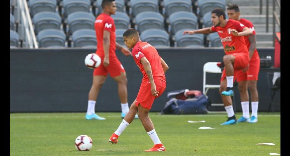Selección peruana continúa con los trabajos para el amistoso frente a Brasl en Los Angeles. (Foto: Fernando Sangama / GEC)