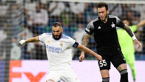 Dulanto anuló a Benzema en el Sheriff vs. Real Madrid. (Foto: Agencias)