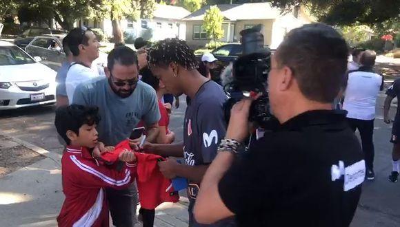 La Selección Peruana llegó a su primer entrenamiento en Los Ángeles previo al amistoso ante Brasil. (José Luis Saldaña)