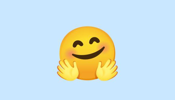 Si enviaste el emoji de la carita con las manos abiertas en WhatsApp, entonces conoce su real significado. (Foto: Emojipedia)