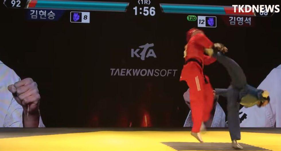Pelea de taekwondo en Corea del Sur (YouTube)