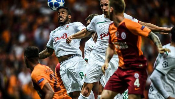 Jefferson Farfán fue parte del partido del Lokomotiv ante Galatasaray. (Foto: AFP)