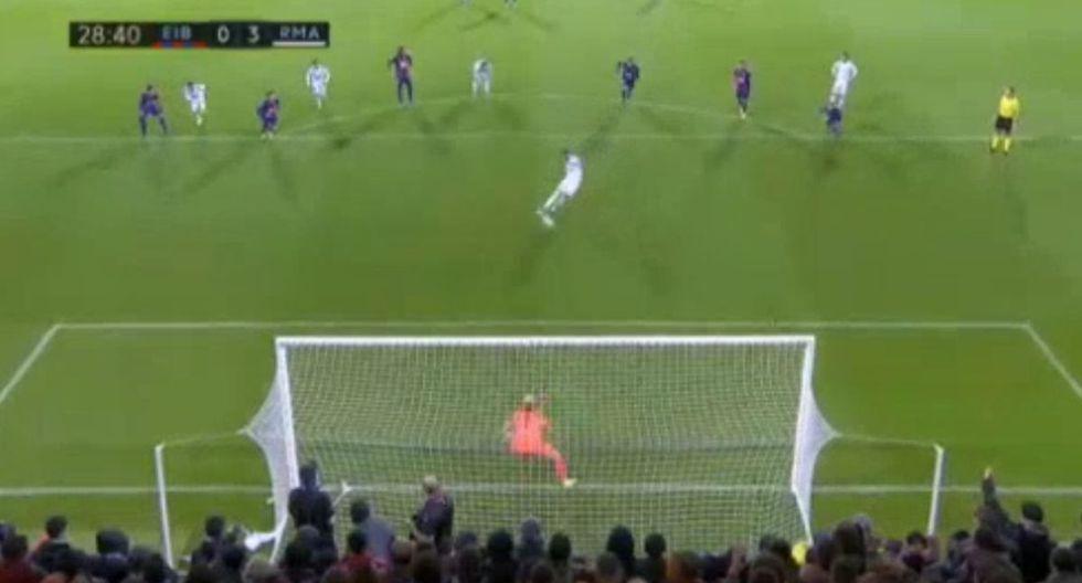 Doblete de Benzema en el Real Madrid vs. Eibar en Ipurúa.