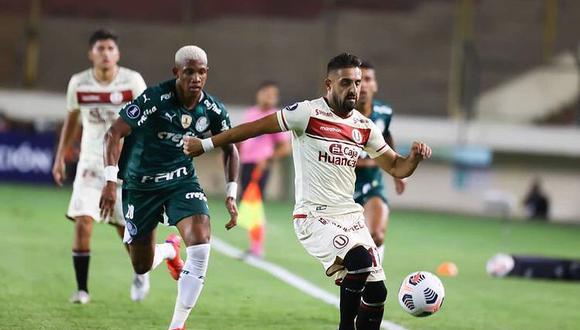 Luis Urruti jugó los 90 minutos ante Palmeiras (Foto:Instagram)