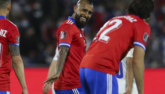 Chile venció 2-0 a Paraguay en la vuelta de Arturo Vidal, por la quinta fecha de las Eliminatorias. (Foto: AFP).