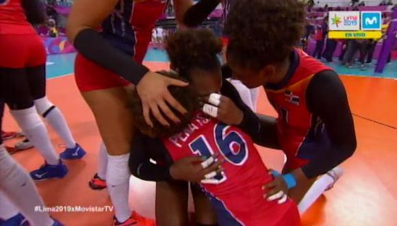La emotiva celebración de República Dominicana al ganar ante Colombia y quedarse con medalla de oro. (Video: Movistar Canal 19)