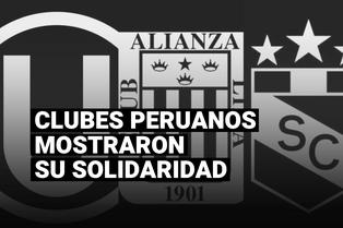 Clubes peruanos mostraron su solidaridad tras fallecidos en las protestas contra Manuel Merino