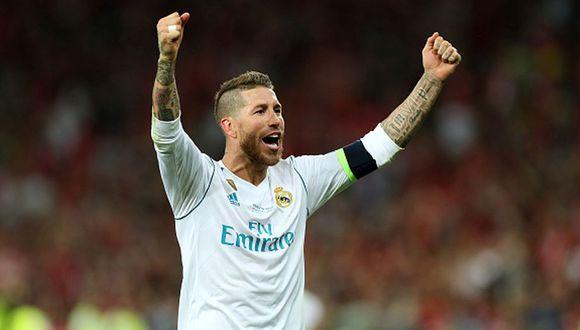 Ramos levantó su cuarta Champions League. (Getty)
