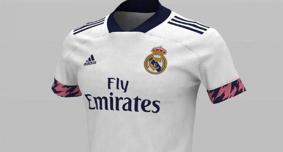 La camiseta principal del Real Madrid. (Foto: Footyheadlines)