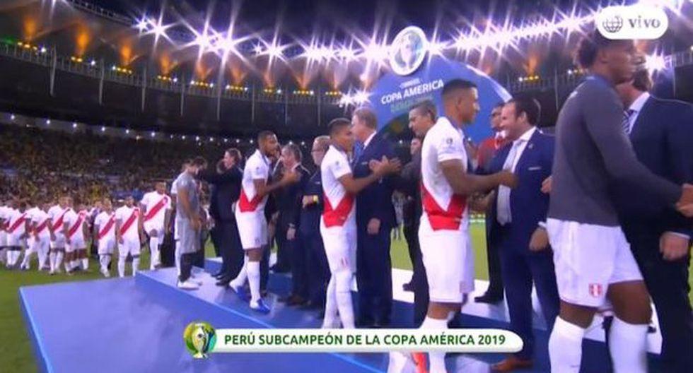 El aplauso del Maracaná a la Selección Peruana en la premiación de la Copa América. (Captura)
