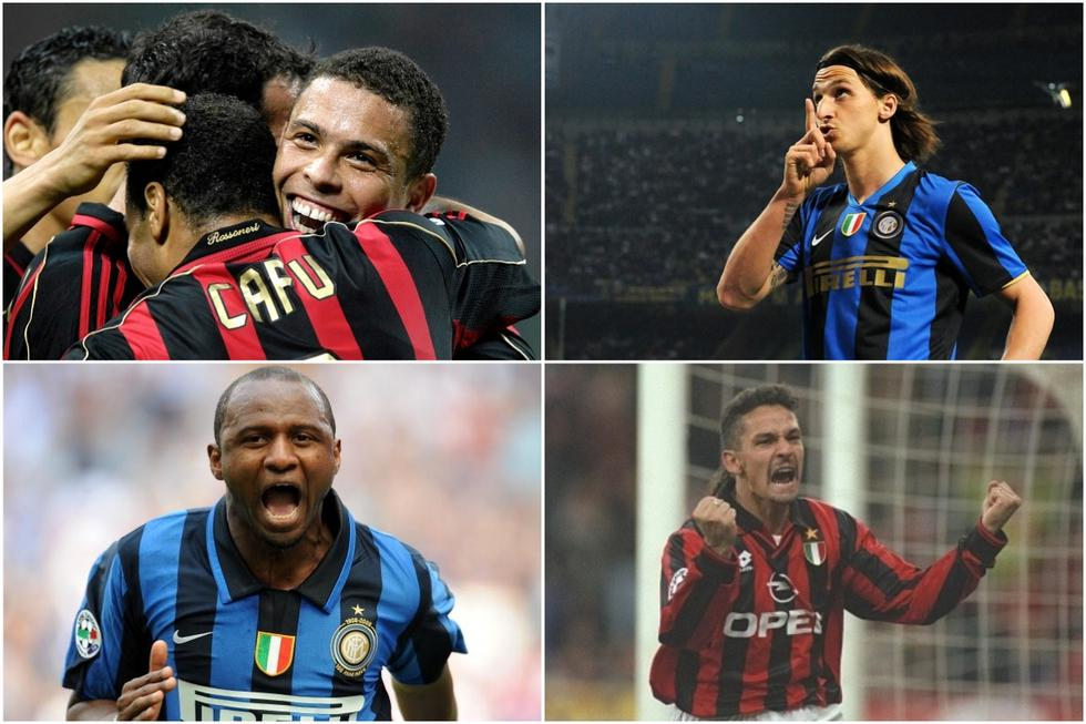 Once cracks que jugaron en el Milan e Inter. (Getty)