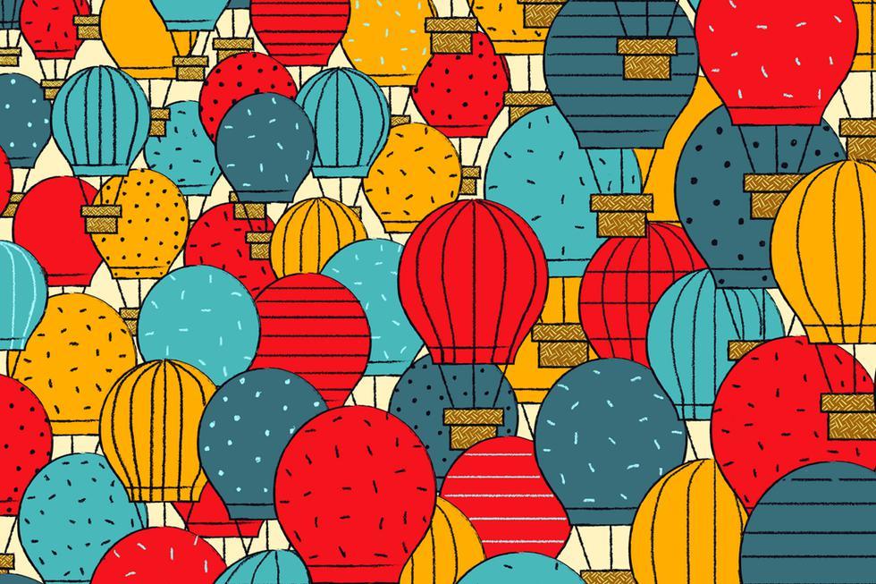 Encuentra los 'cometas' entre los globos aerostáticos de la imagen viral. (Televisa)