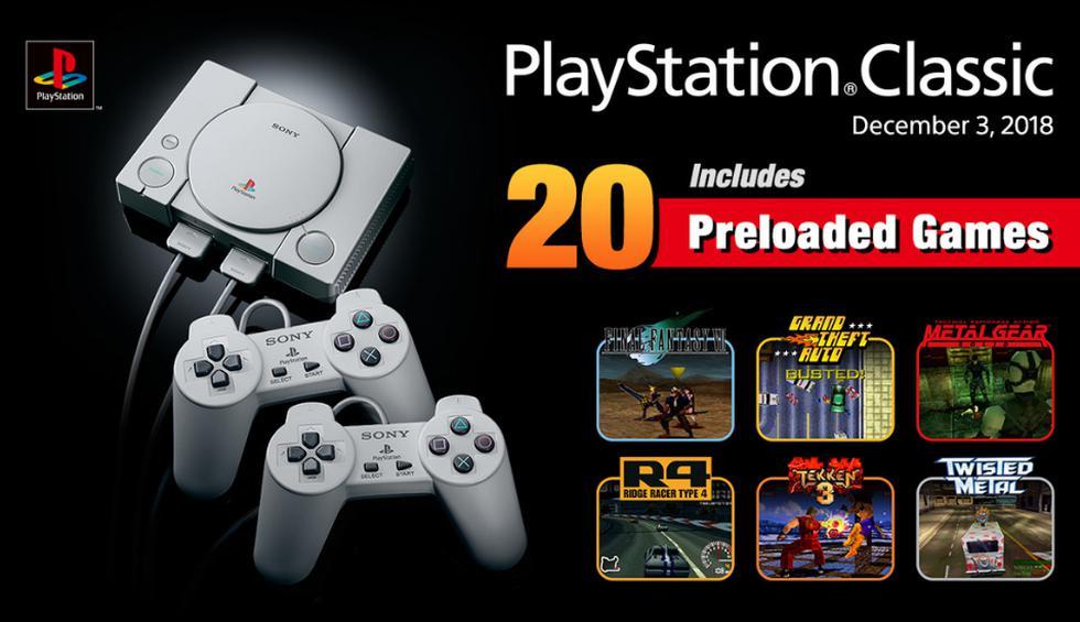 PlayStation Classic llegará a las tiendas en diciembre y estos son los 20 juegos precargados que incluirá. (Fotos: PlayStation)
