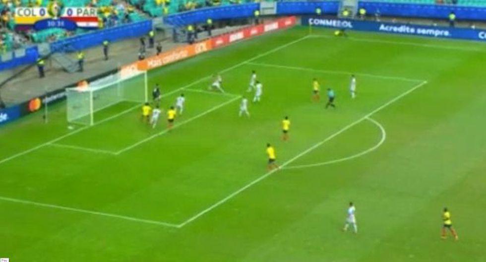 Gustavo Cuéllar marcó el 1-0 de Colombia sobre Paraguay por la Copa América 2019