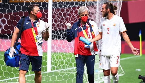 España sufrirá la baja de Dani Ceballos y Óscar Mingueza por lesión. Los jugadores salieron del campo en el primer tiempo en el debut ante Egipto. (Reuters)