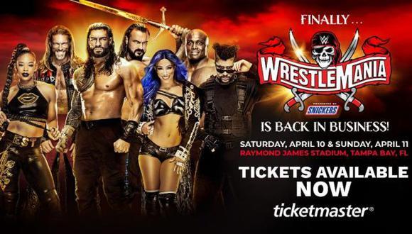 WWE WrestleMania 37: fechas, horarios en el mundo y canales de TV para ver el evento desde Florida. (WWE)