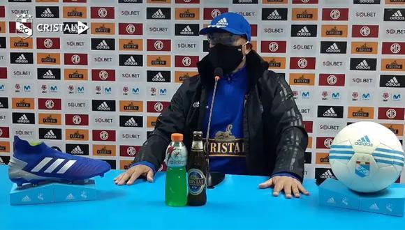 Roberto Mosquera brindó una una conferencia de prensa virtual. (Foto: CristalTV)