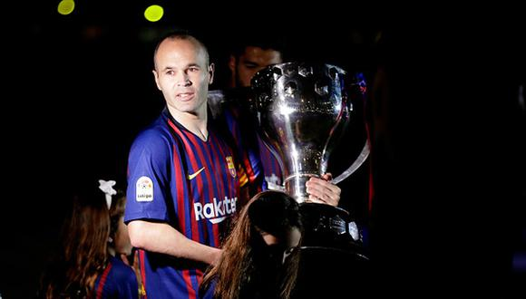 Andrés Iniesta llegó al Vissel Kobe en 2018 tras su paso por el FC Barcelona. (Getty)