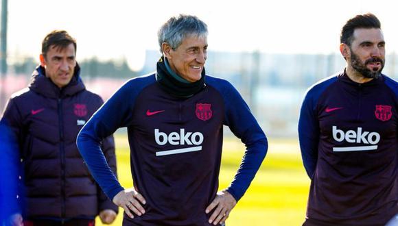 Quique Setién firmó con el FC Barcelona hasta el 2022. (FC Barcelona)
