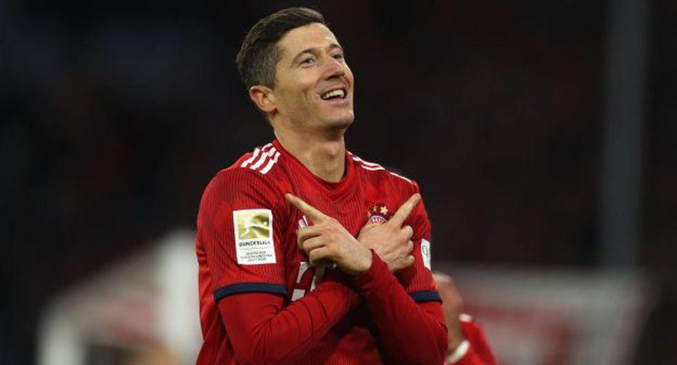 Robert Lewandowski anotó un doblete e igualó la marca de Claudio Pizarro en la Bundesliga. (Foto: Bayern Munich)