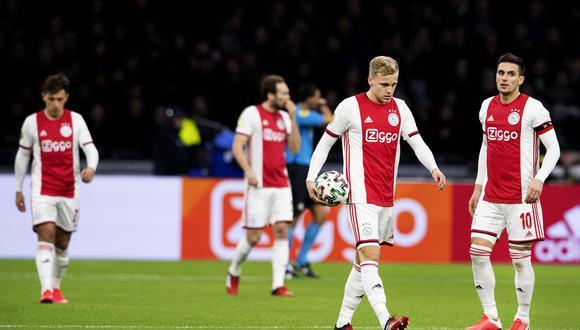 Ajax, líder actual de la Eredivisie, no será proclamado campeón tras la finalización anticipada del torneo por el coronavuirus. (Foto: Maurice van STEEN / various sources / AFP)