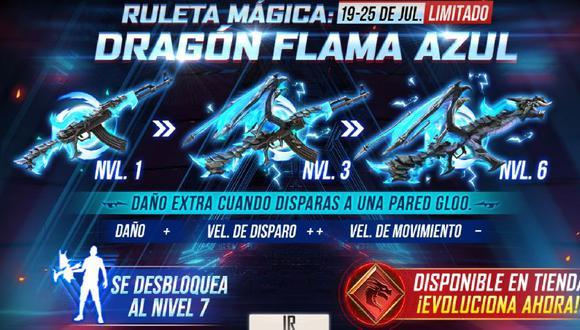 Free Fire: qué hacer para tener el skin AK47 Dragón Flama Azul