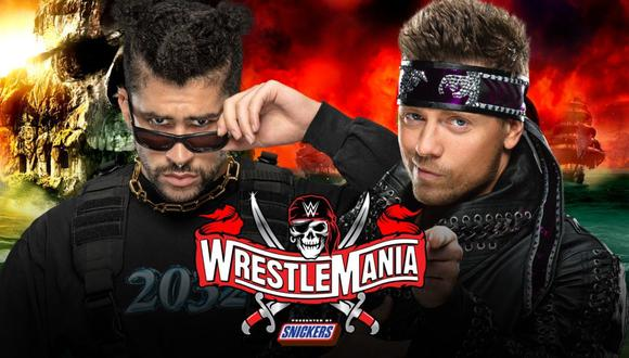 Bad Bunny enfrentará a 'The Miz' en Wrestlemania. (Foto: WWE)